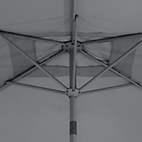 Parasol GoodHome Carambole gris 200 x 300 cm