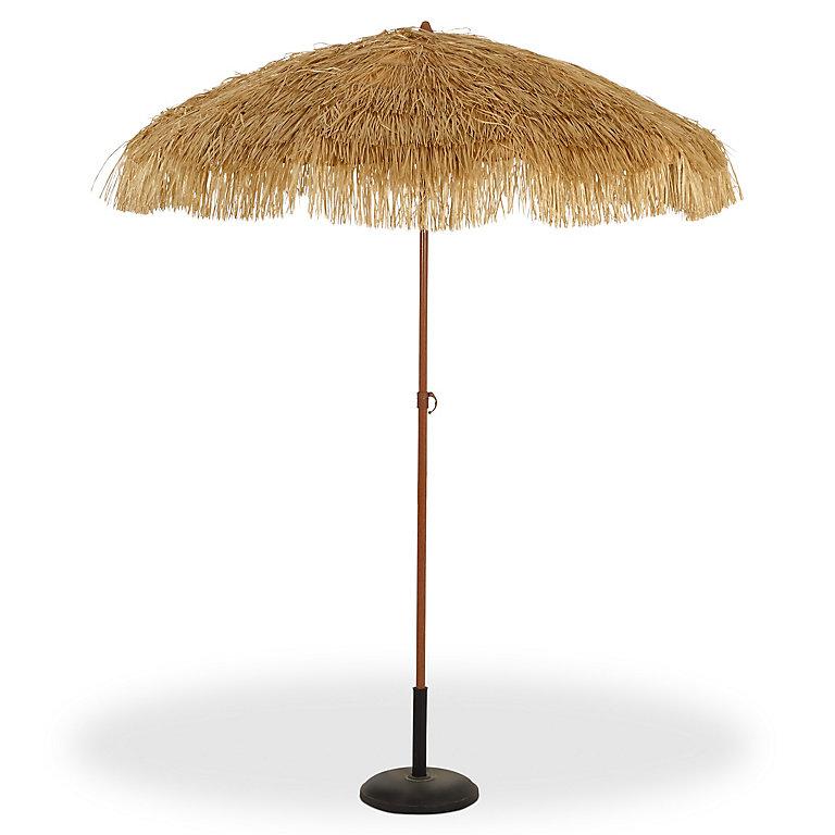 Parasol Tendances Et Creations Imitation Raphia O200 Cm Castorama