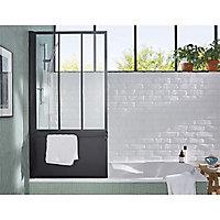 Pare-baignoire 1 volet noir pivotant Gelco Loft
