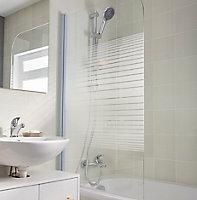 Pare-baignoire 1 volet verre sérigraphié H. 130 x l. 75 cm