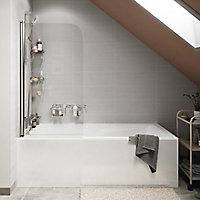 Pare-baignoire 1 volet verre transparent Arkell H. 130 x l. 75 cm
