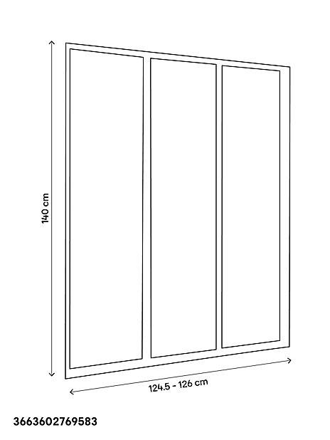 Pare Baignoire 3 Panneaux En Verre Profile Blanc Goodhome Castorama