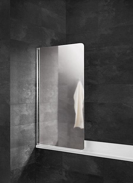 Pare Baignoire 80 X 140 Cm 1 Volet Verre Miroir Castorama