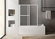 Pare-baignoire blanc 2 volets relevable Atelier du bain