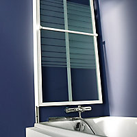 Pare-baignoire relevable 2 volets profilés blanc 140 x 104 cm Ecume
