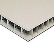 Paroi alvéolaire Placo Placopan 60 x 250 cm, ép.50 mm (vendue à la plaque)