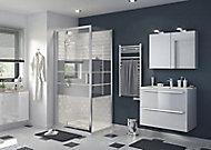 Paroi de douche fixe GoodHome Beloya miroir 70 cm