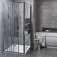 Paroi de douche fixe GoodHome Beloya miroir 90 cm