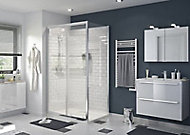 Paroi de douche fixe GoodHome Beloya transparente 80 cm
