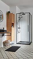 Paroi de douche fixe GoodHome Ezili transparent profilé noir 90 cm