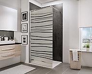 Paroi de douche fixe à l'italienne, 100 x 190 cm, Schulte NewStyle, Walk In, verre transparent anticalcaire, Mistral