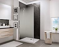 Paroi de douche fixe à l'italienne, 120 x 190 cm, Schulte NewStyle, Walk In, verre transparent anticalcaire, Brouillard
