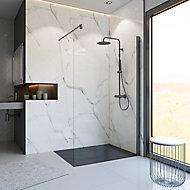 Paroi de douche fixe à l'italienne, 120 x 200 cm, Schulte NewStyle, Walk In, verre transparent anticalcaire