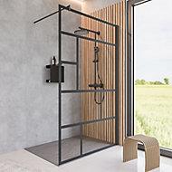 Paroi de douche fixe à l'italienne, 90 x 200 cm, Schulte NewStyle, Walk In, verre transparent anticalcaire, Atelier