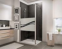 Paroi de douche fixe à l'italienne + déflecteur, 100 x 190 cm, Schulte NewStyle, Walk In, verre transparent anticalcaire, Liane