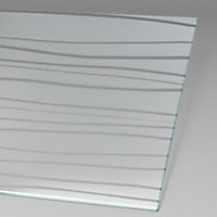Paroi de douche fixe à l'italienne + déflecteur, 100 x 190 cm, Schulte NewStyle, Walk In, verre transparent anticalcaire, Mistral
