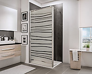 Paroi de douche fixe à l'italienne + déflecteur, 90 x 190 cm, Schulte NewStyle, Walk In, verre transparent anticalcaire, Mistral