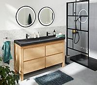 Paroi de douche fixe à l'italienne Schulte NewStyle black, Walk In 100 cm