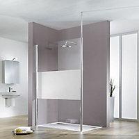 Paroi de douche fixe à l'italienne verre fixit design 90 cm Walk In Solo Light