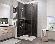 Paroi de douche à l'italienne, 100 x 190 cm, Schulte NewStyle, Walk In, verre transparent anticalcaire