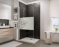 Paroi de douche à l'italienne, 120 x 190 cm, Schulte NewStyle, Walk In, verre transparent anticalcaire, Softcube