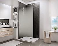 Paroi de douche à l'italienne, 90 x 190 cm, Schulte NewStyle, Walk In, verre transparent anticalcaire, Brouillard
