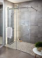 Paroi de douche à l'italienne coulissante GoodHome Naya transparent 140 cm