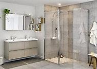 Paroi de douche à l'italienne et volet GoodHome Beloya transparent 77.5 + 45 cm et barre de fixation