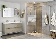 Paroi de douche à l'italienne GoodHome Beloya miroir 80 cm