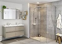 Paroi de douche à l'italienne GoodHome Beloya transparente 90 cm