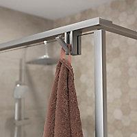 Paroi de douche à l'italienne GoodHome Ezili transparent alu brossé 120 cm