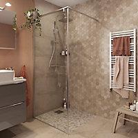 Paroi de douche à l'italienne GoodHome Ezili transparent alu brossé 90 cm