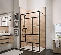 Paroi de douche à l'italienne Schulte NewStyle black, Walk In 100 cm