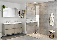 Paroi de douche walk in GoodHome Beloya miroir 120 cm
