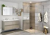 Paroi de douche walk in GoodHome Beloya miroir 70 cm