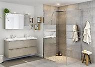 Paroi de douche walk in GoodHome Beloya miroir 90 cm