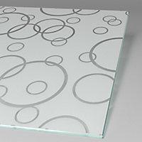 Paroi latérale fixe pour porte de douche pivotante, 80 cm, NewStyle Schulte, verre transparent anticalcaire, Cercles