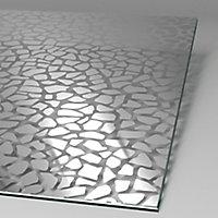 Paroi latérale fixe pour porte de douche pivotante, 80 cm, NewStyle Schulte, verre transparent anticalcaire, Galets chromés