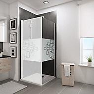 Paroi latérale fixe pour porte de douche pivotante, 80 cm, NewStyle Schulte, verre transparent anticalcaire, Softcube