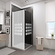 Paroi latérale fixe pour porte de douche pivotante, 90 cm, NewStyle Schulte, verre transparent anticalcaire, Cubic anthracite