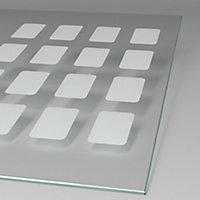 Paroi latérale fixe pour porte de douche pivotante, 90 cm, NewStyle Schulte, verre transparent anticalcaire, Cubic transparent