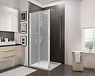 Paroi latérale fixe pour portes de douche battantes, 80 cm, NewStyle Schulte, verre transparent anticalcaire