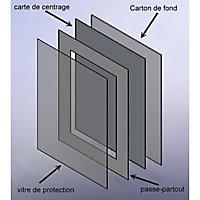 Passe-partout blanc cassé épais 30 x 40 / 18 x 24 cm