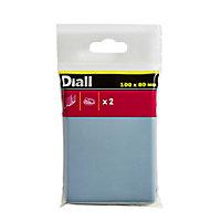 Patin auto-adhésifs Diall 100 x 80mm x 2, blanc + gris/bleu