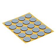 Patin auto-adhésifs Diall 17mm x 20, noir + gris/bleu