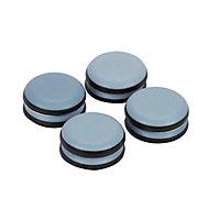 Patin auto-adhésifs Diall 30mm x 8, blanc + gris/bleu
