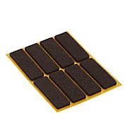 Patin en feutre marron Diall 15 x 45 mm, 8 pièces