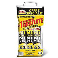 Pattex Ni Clou Ni Vis Chrono lot de 2 cartouches 380 g + 1 gratuite