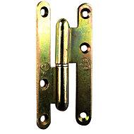 Paumelle gauche bronze 80 x 40 mm