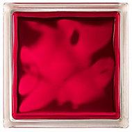 Pavé de verre Brilly Nuage rouge 19 x 19 cm, ép.80 mm